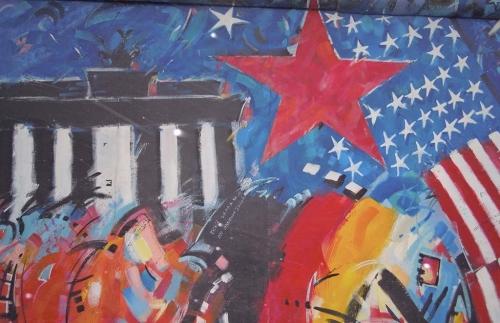 East Side Gallery in Berlijn een van de locaties waar nog Muur-delen staan