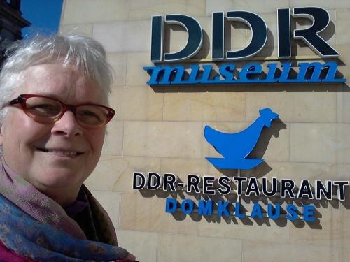 Trabi-rijden in het DDR-Museum