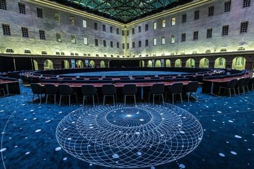 Het Grote Pleyn wordt ook gebruikt voor feesten en vergadeirgen. Hier EU top 2016