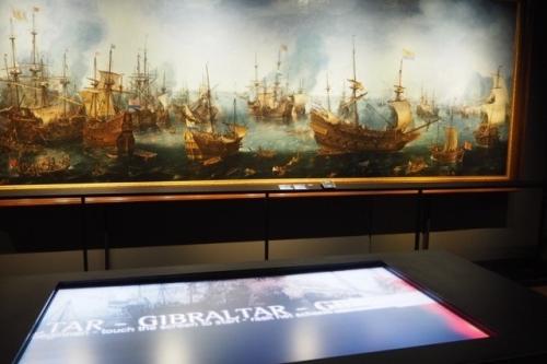 De slag bij Gibraltar 1607 door Cornelis Claesz van Wieringen coll. Scheepvaartmuseum Amsterdam